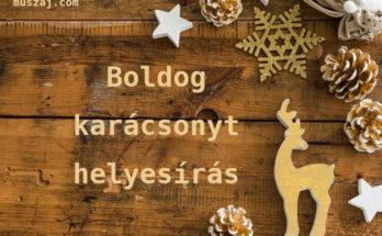 boldog karácsonyt helyesírás
